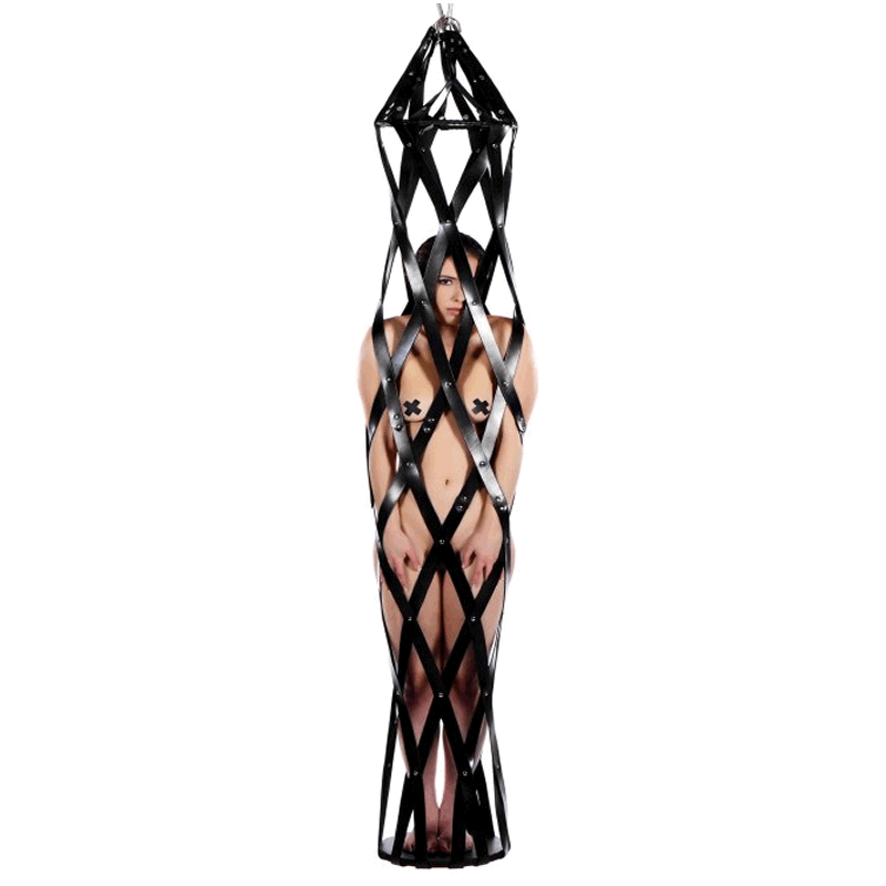 Hanging Leather Strap Cage